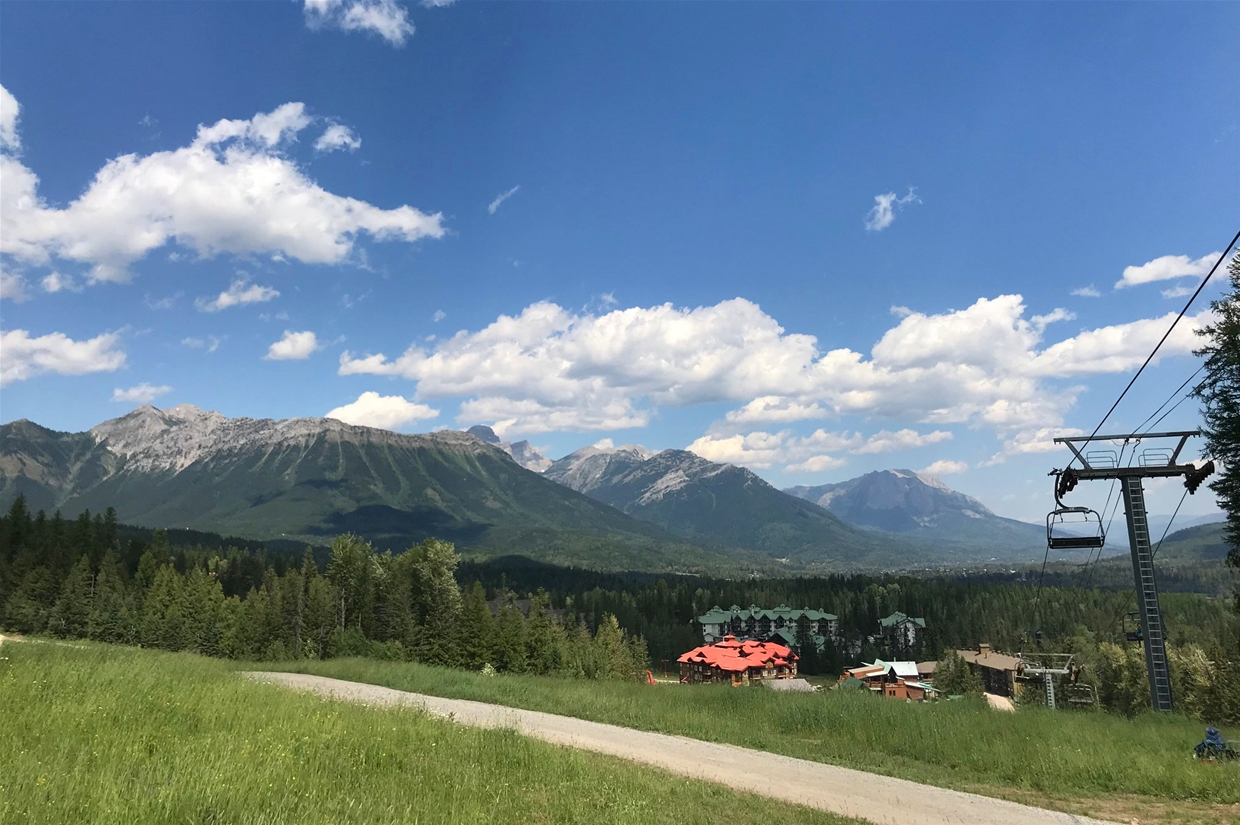 Fernie sky on July 21, 2018 - Fernie Alpine Resort