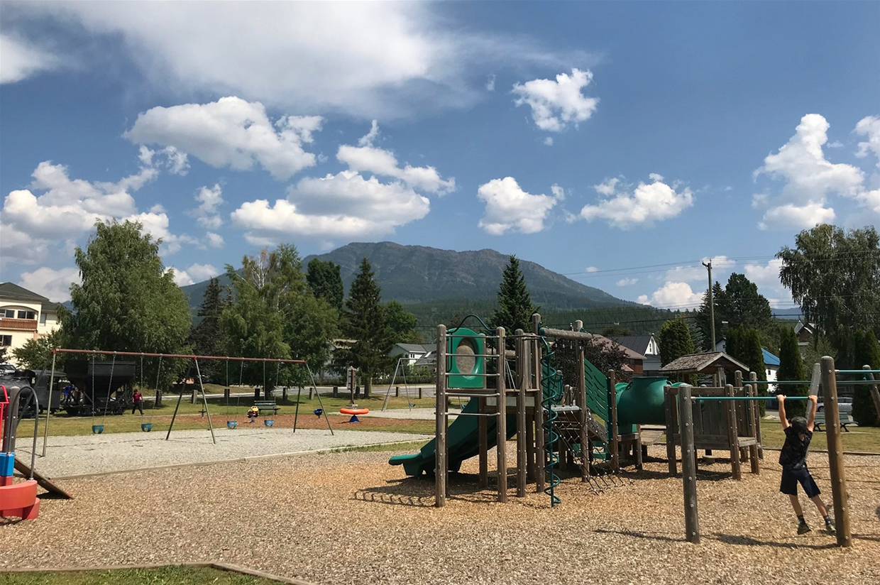 Fernie sky on July 28, 2018 - Rotary Park