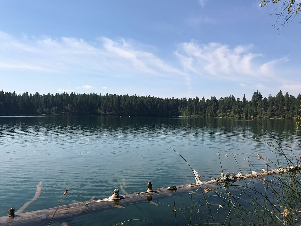 Fernie sky on August 6, 2018 - Surveyors Lake