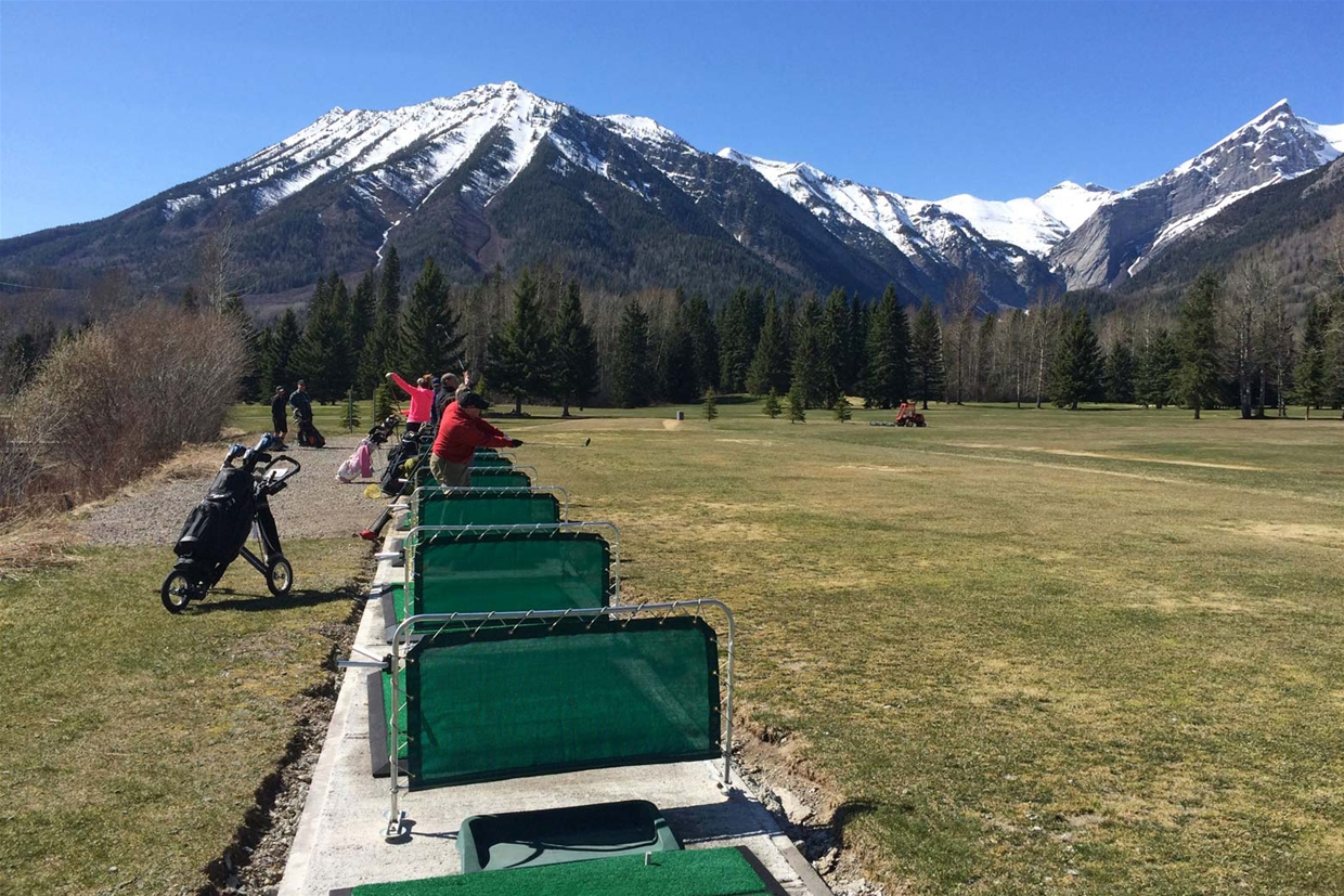 Driving range at the Fernie Golf & Country Club