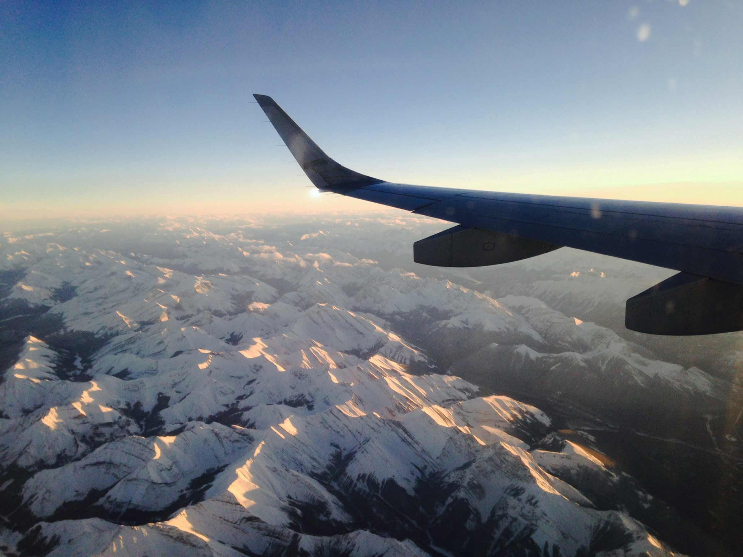 Flying to Fernie over the Rockies