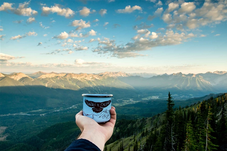 Morning views of Fernie from Morrissey Ridge. Credit Jeff Bartlett