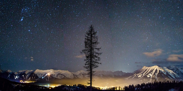 A winter's evening overlooking Fernie. Photo by Matt Kuhn