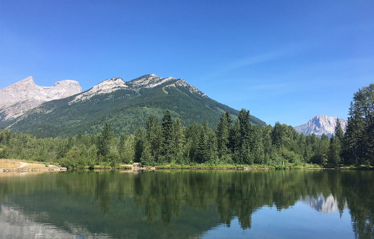 Fernie sky at 11:30am on July 29, 2017 - Maiden Lake