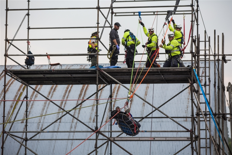 Mine rescue simulations test skills from rope work, to fire fighting