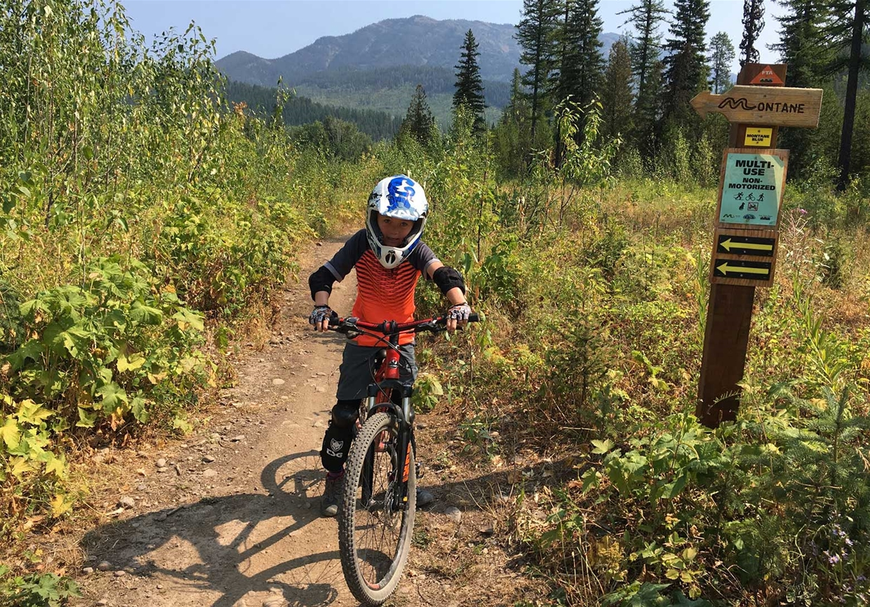 Family Biking on Montane Trails