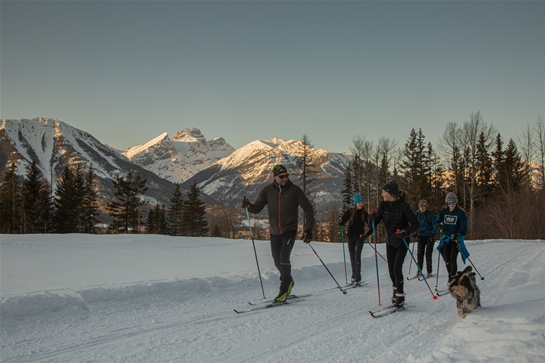 Nordic skiing on Montane Trails