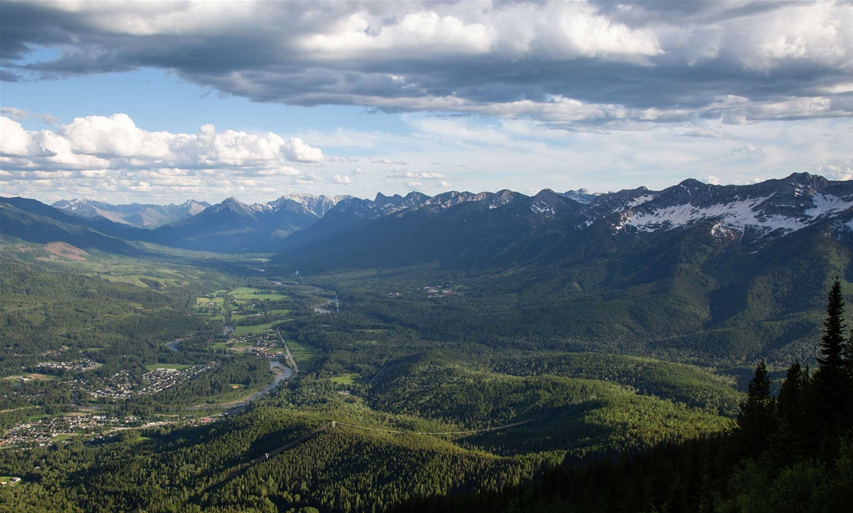 Mt Fernie Ridge Hike - Views of Town on June 24, 2020