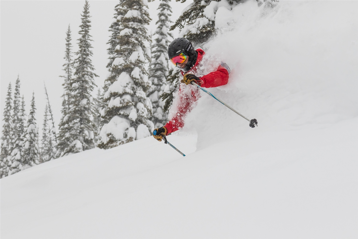 Deep powder day at Island Lake Lodge