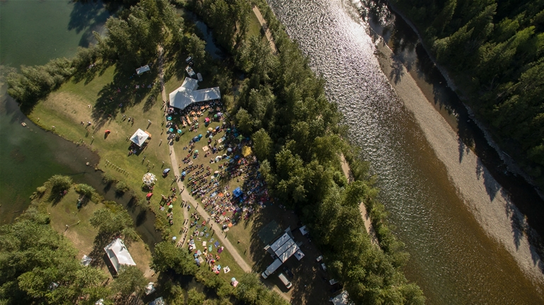 Wapiti Music Festival from the air