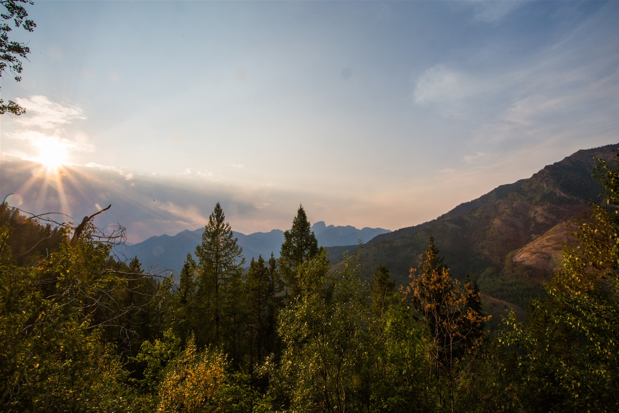 Fernie sky at 7pm on August 10th - Looking North West from Coal Creek