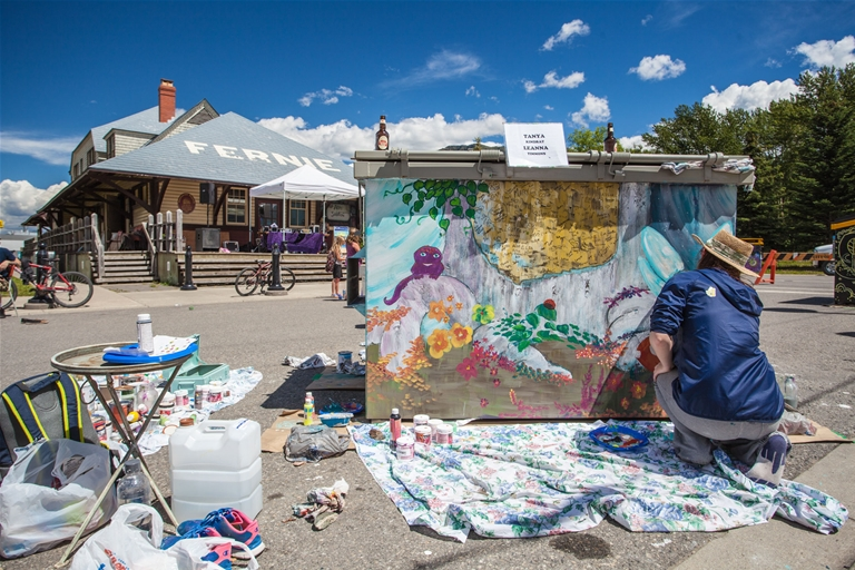 Dumpster Live Painting