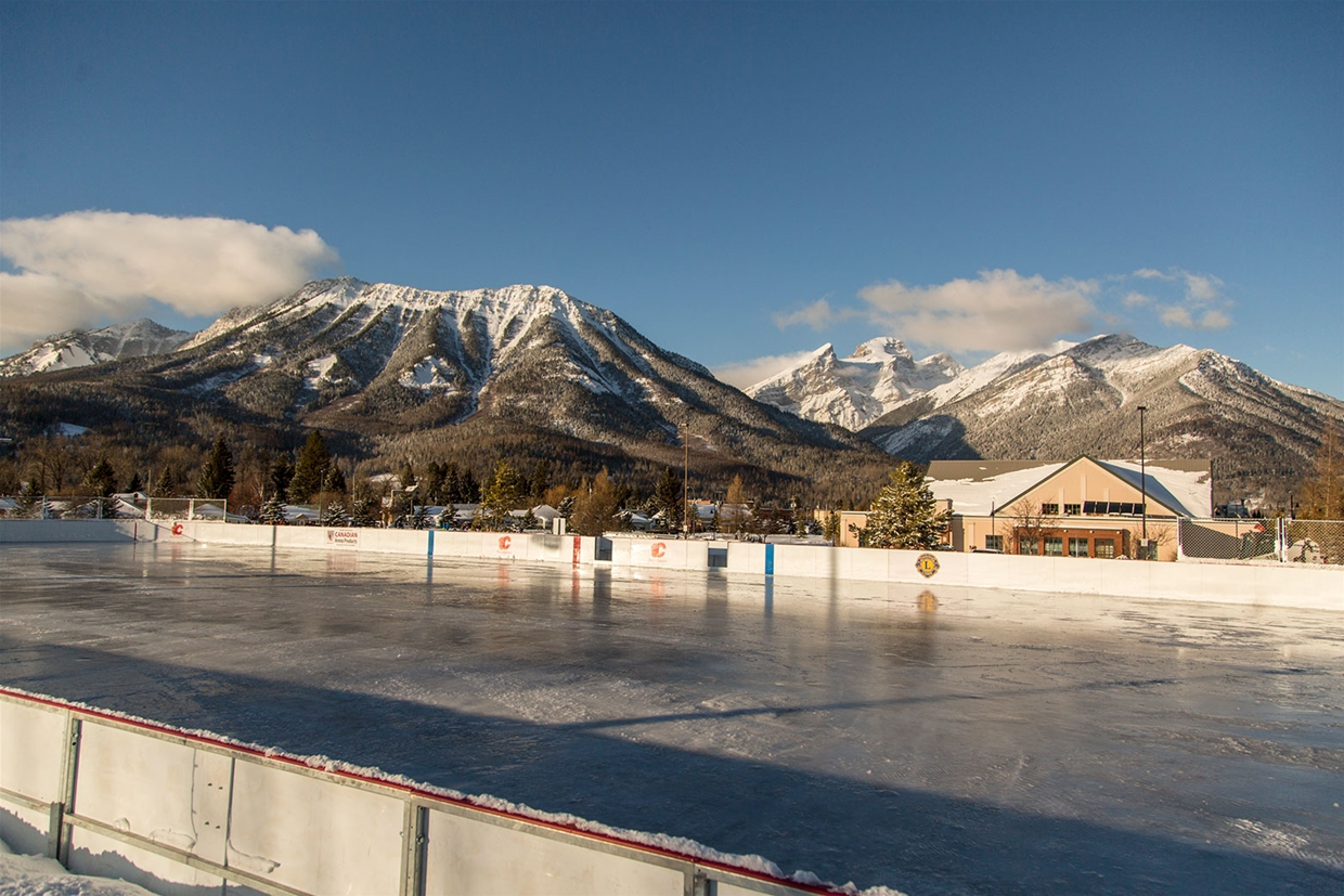 New NHL Size Outdoor Hockey Rink