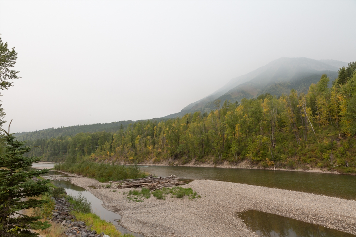 September 13th 2020, 13:00pm - North Fernie Bridge Looking NW towards Mt. Fernie