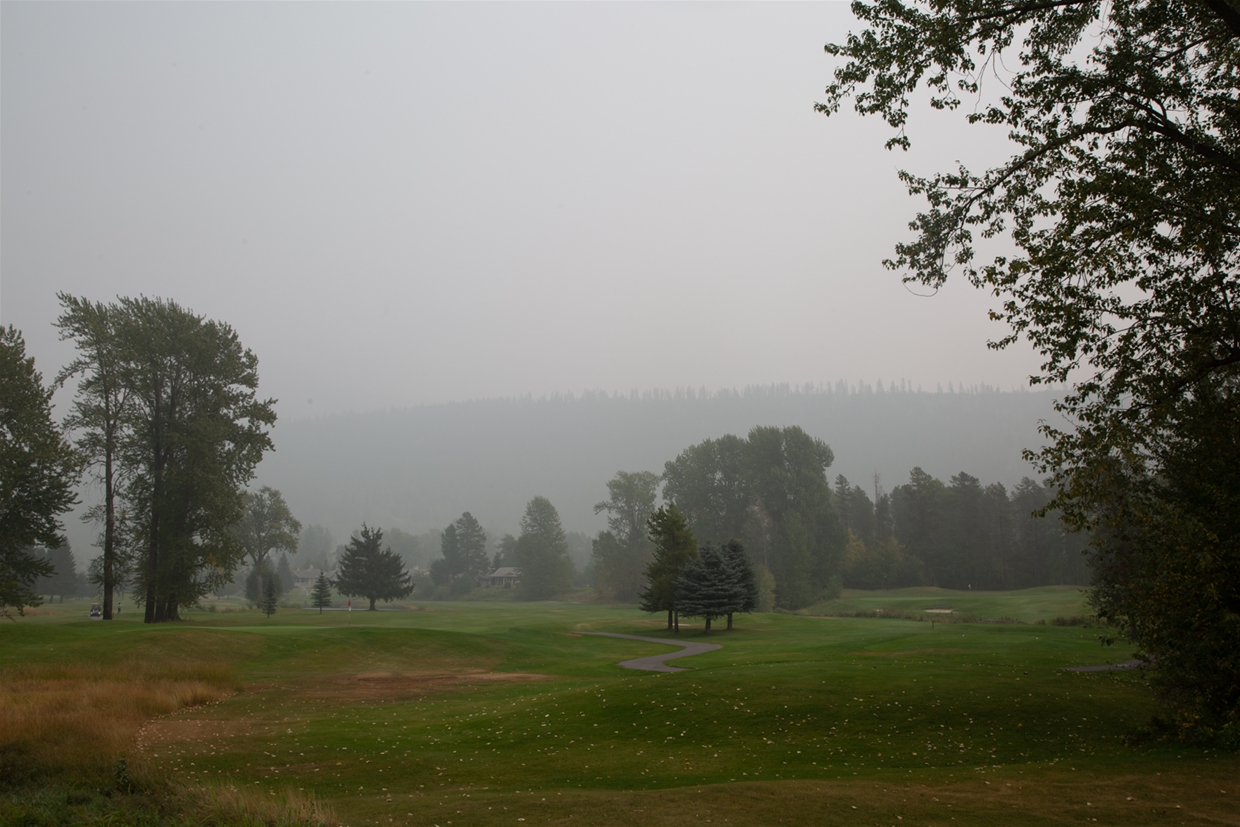September 14th 2020, 13:30pm - Fernie Golf Club looking east to Fernie Ridge