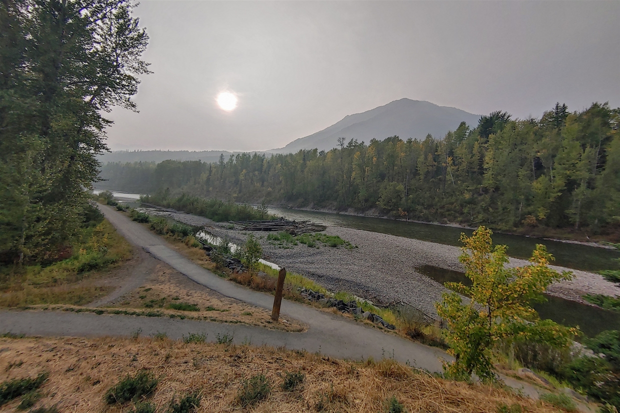 September 15th 2020, 17:30pm - North Fernie Bridge Looking NW towards Mt Fernie