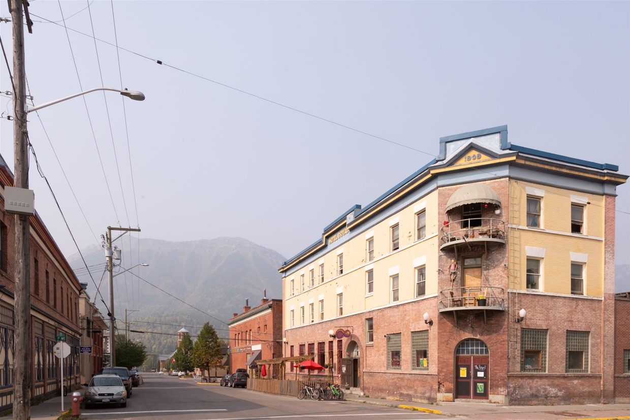 September 17th 2020, 2:00pm - Downtown Fernie looking north towards Mt. Fernie