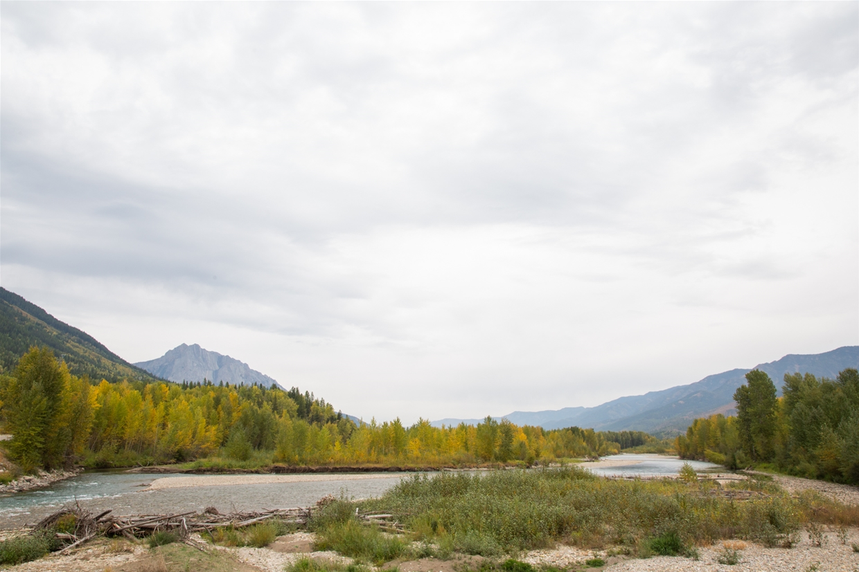 September 22th 2020 - North Fernie Bridge Looking NE towards Mt Hosmer