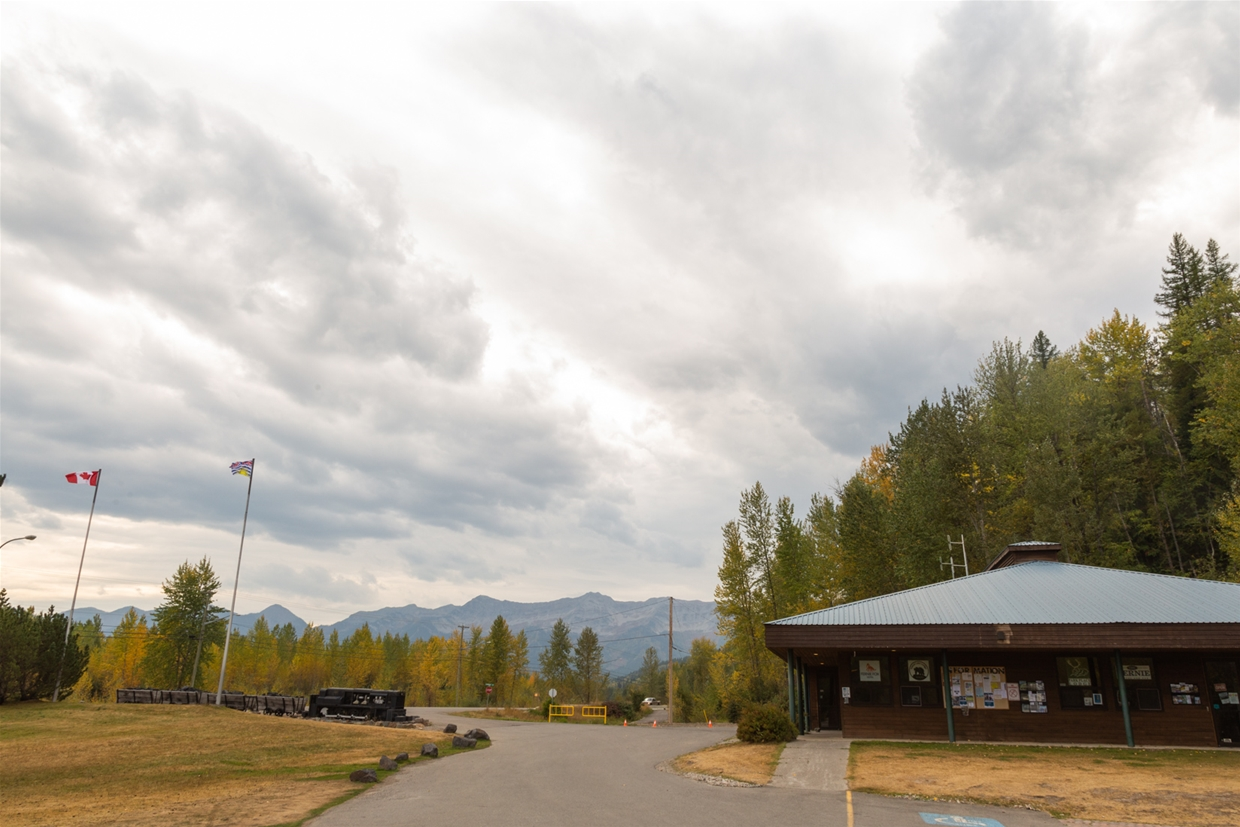 September 23th 2020 - Fernie Visitor Information Centre looking SW towards Fernie Alpine Resort