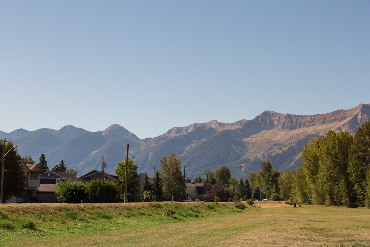 September 9th 2020 - Annex Park looking SW towards Fernie Alpine Resort