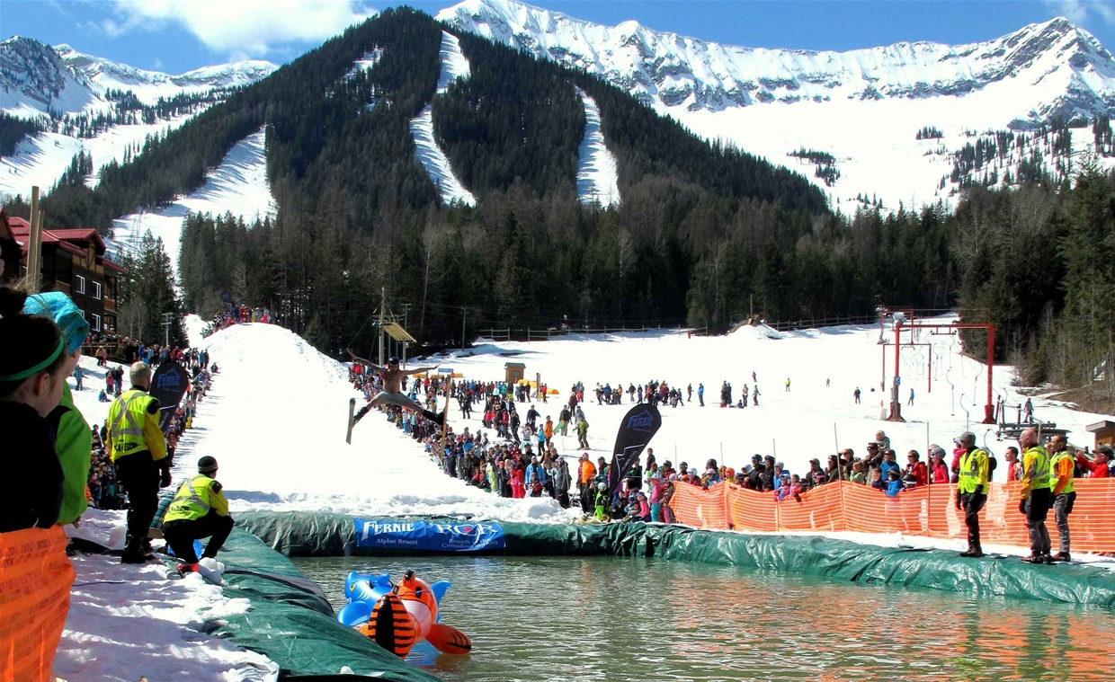 Coca Cola Slope Soaker at Fernie Alpine Resort