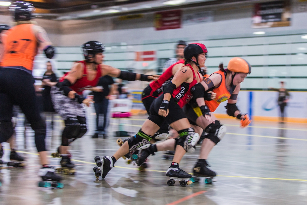 Roller Derby Action with the Avalanche City Roller Girls