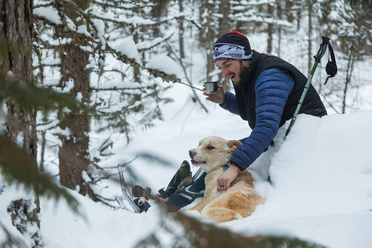 Snowshoe with with your fur friend
