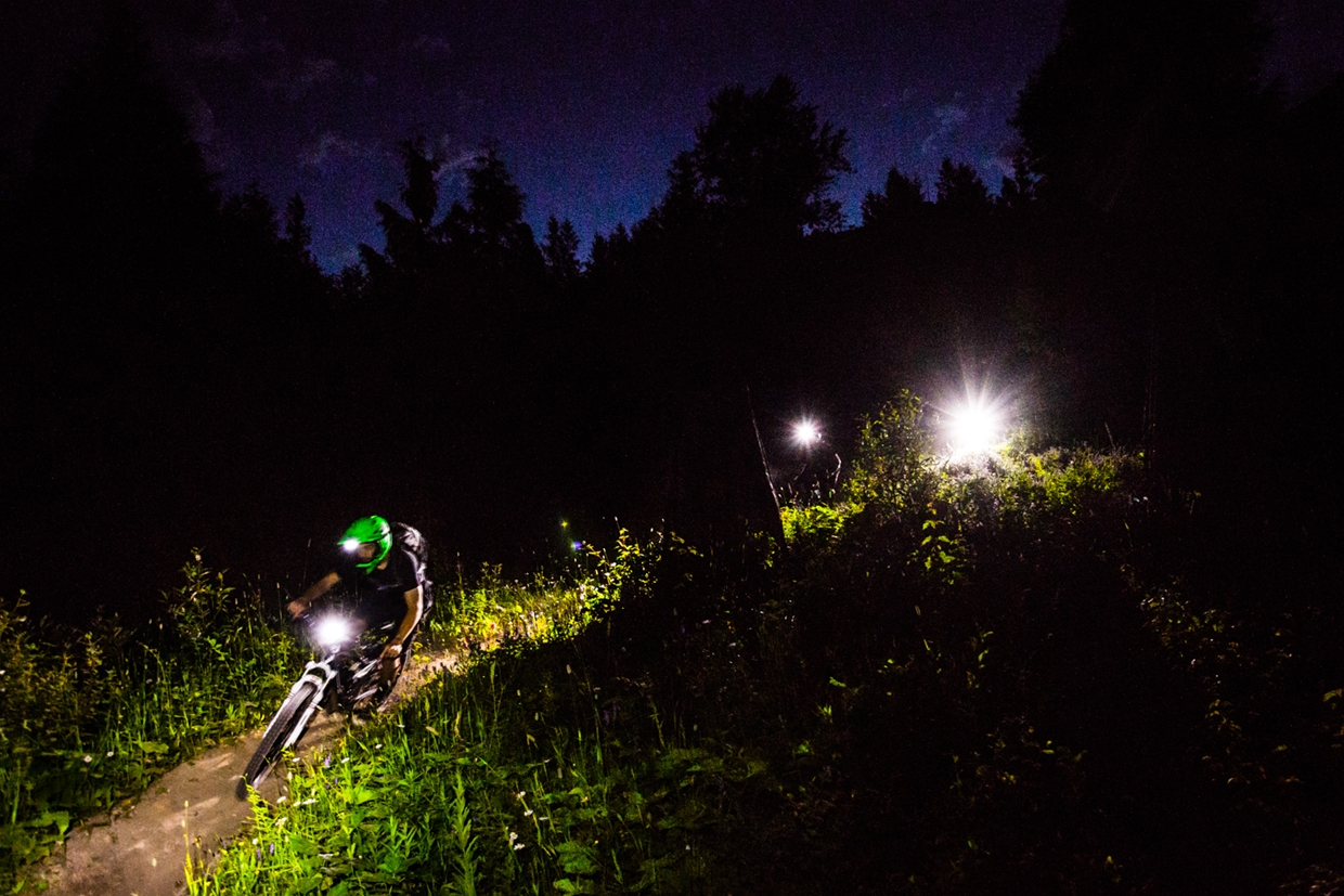 Night Biking in Fernie Provincial Park