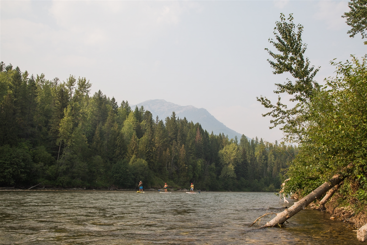 Fernie sky at 5pm on August 9th - Elk River looking North