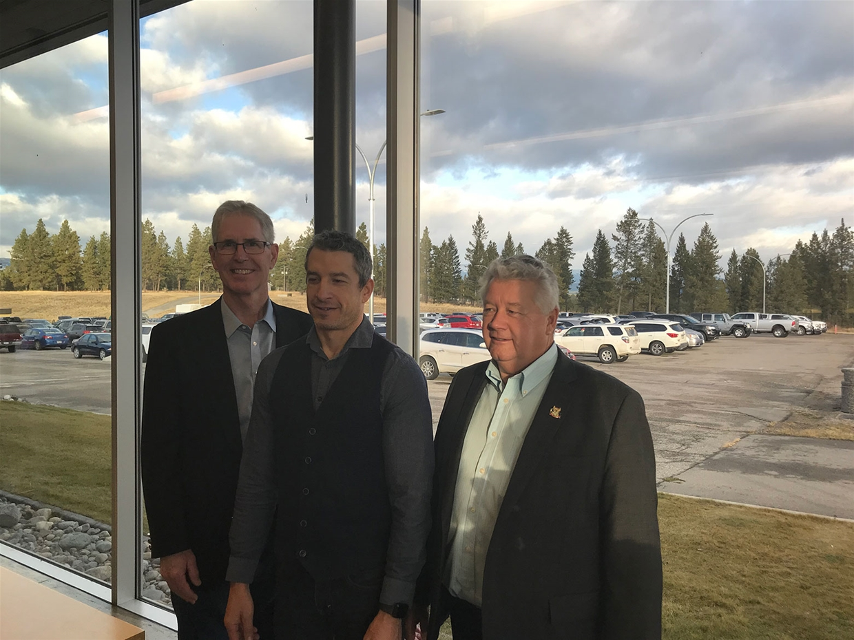 Kimberley Mayor, Cranbrook Airport Manager & Cranbrook Mayor