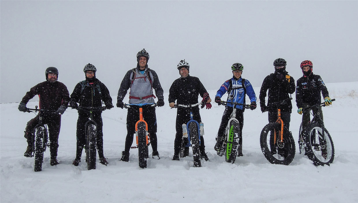 Fat tire biking, snow is the new dirt!