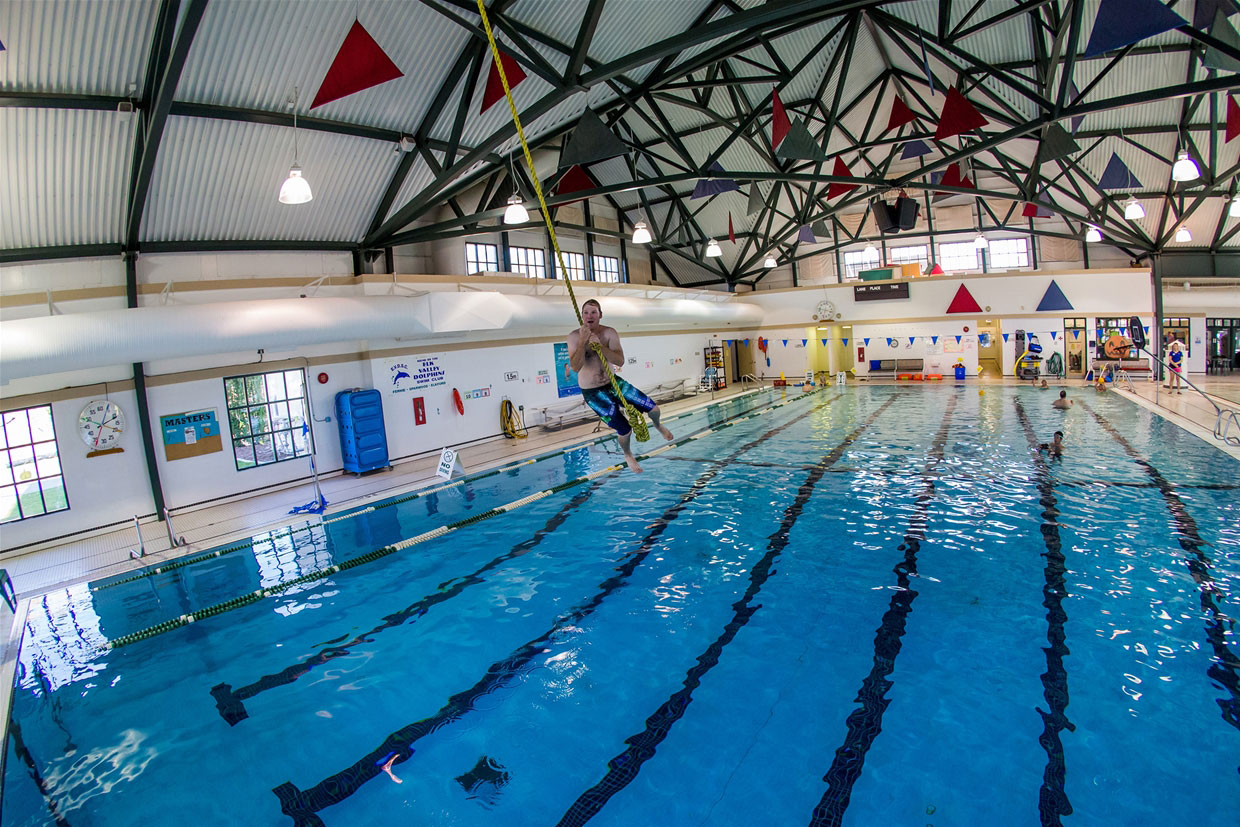 Aquatic Centre rope swing