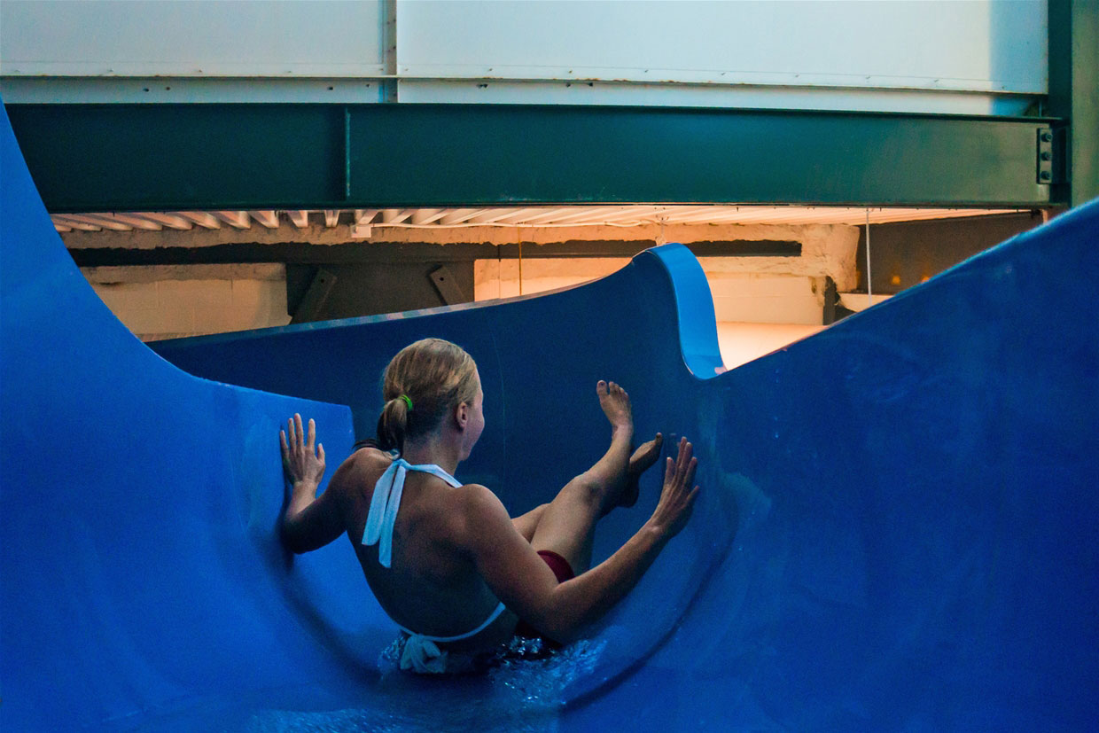 Aquatic Centre water slide