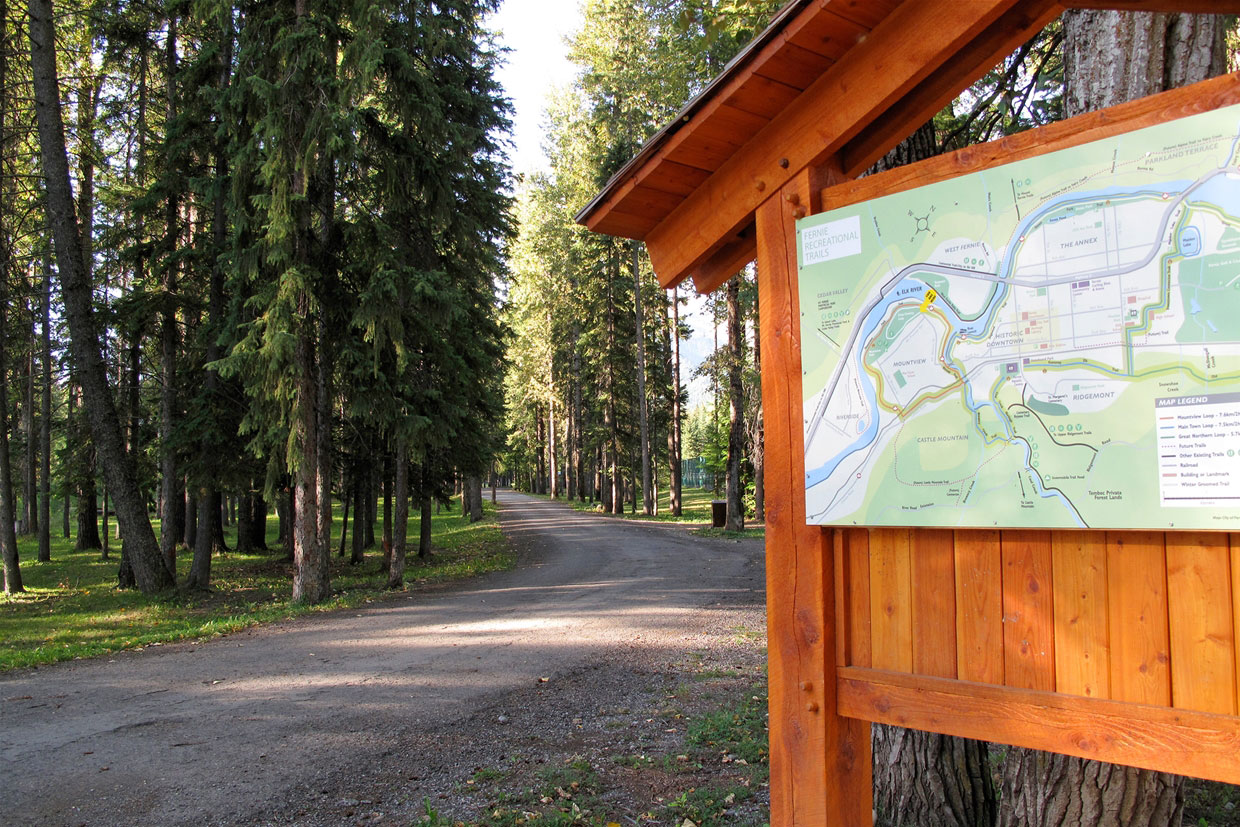 Trail maps on site.