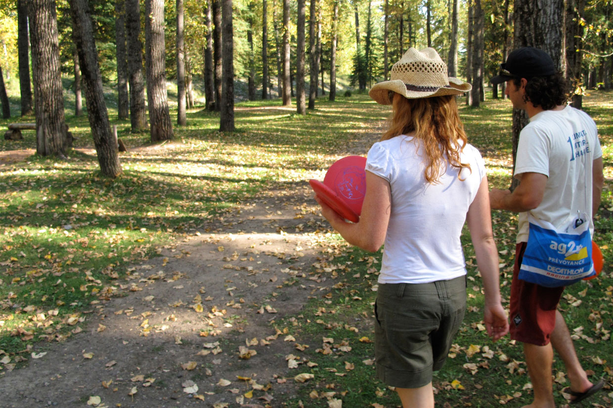 Disc golf in James White Park.