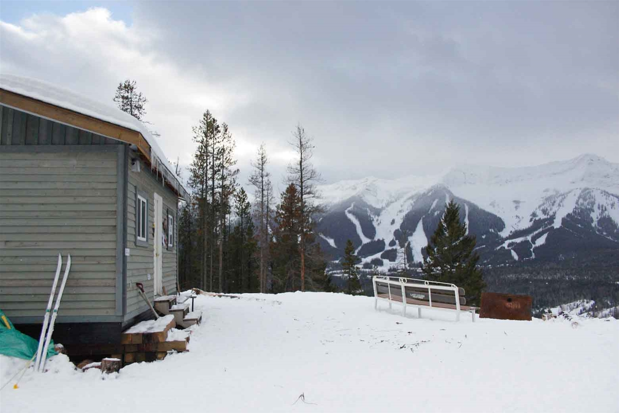 View from the Montane Cabin to Fernie Alpine Resort