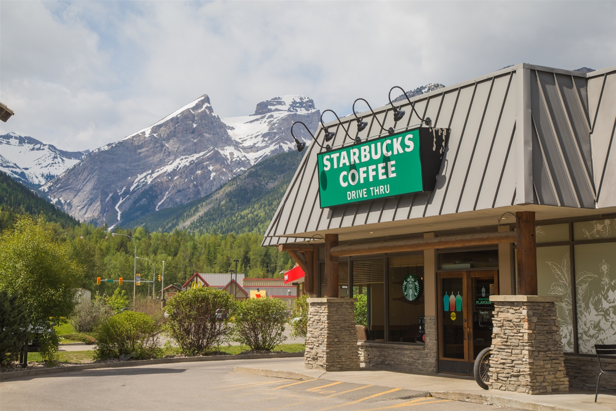 Possibly the most scenic Starbucks you will stop at