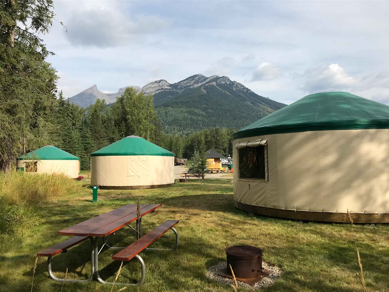 Yurts at Fernie RV Resort