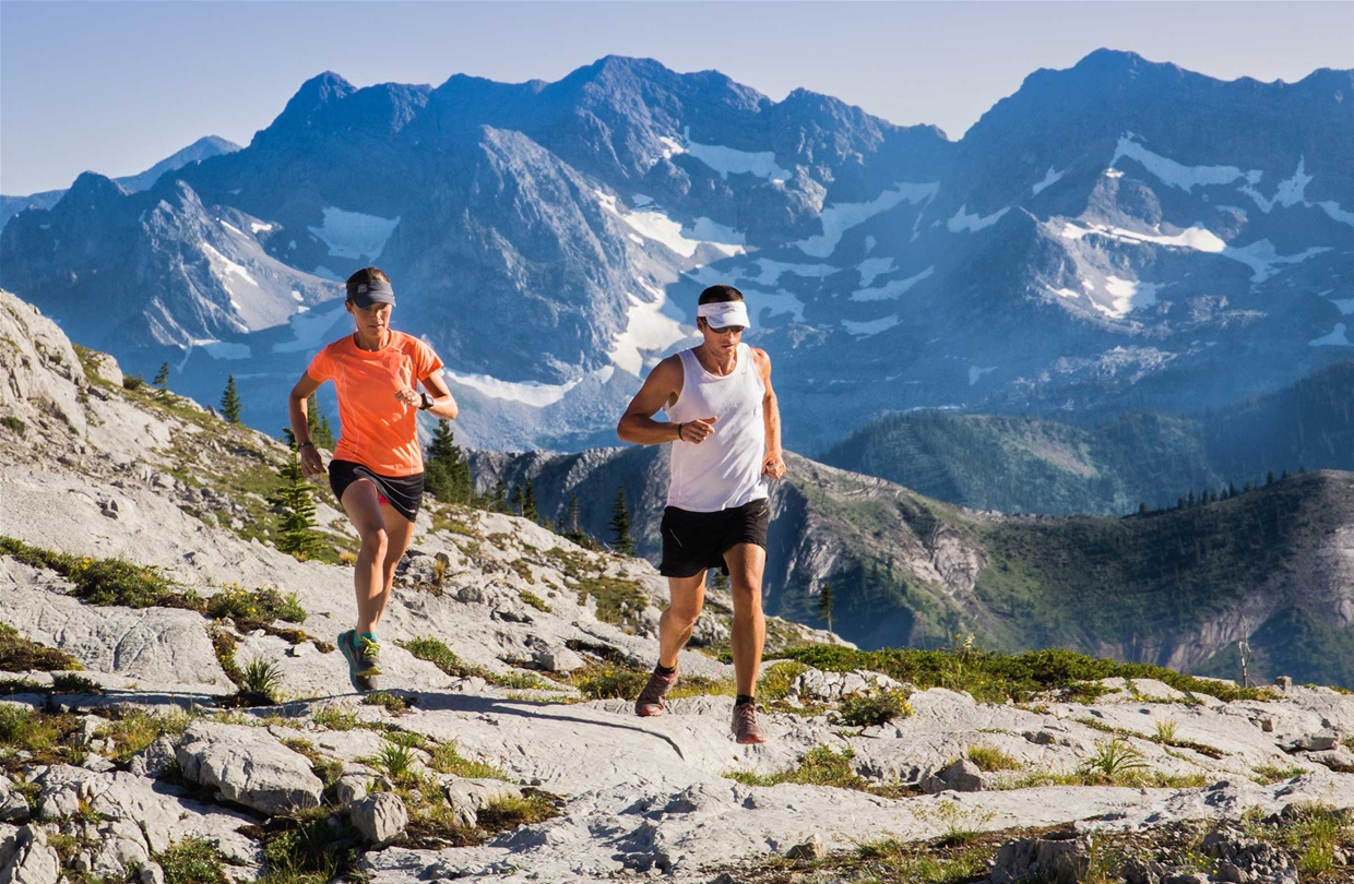 Running the alpine trails surrounding Fernie