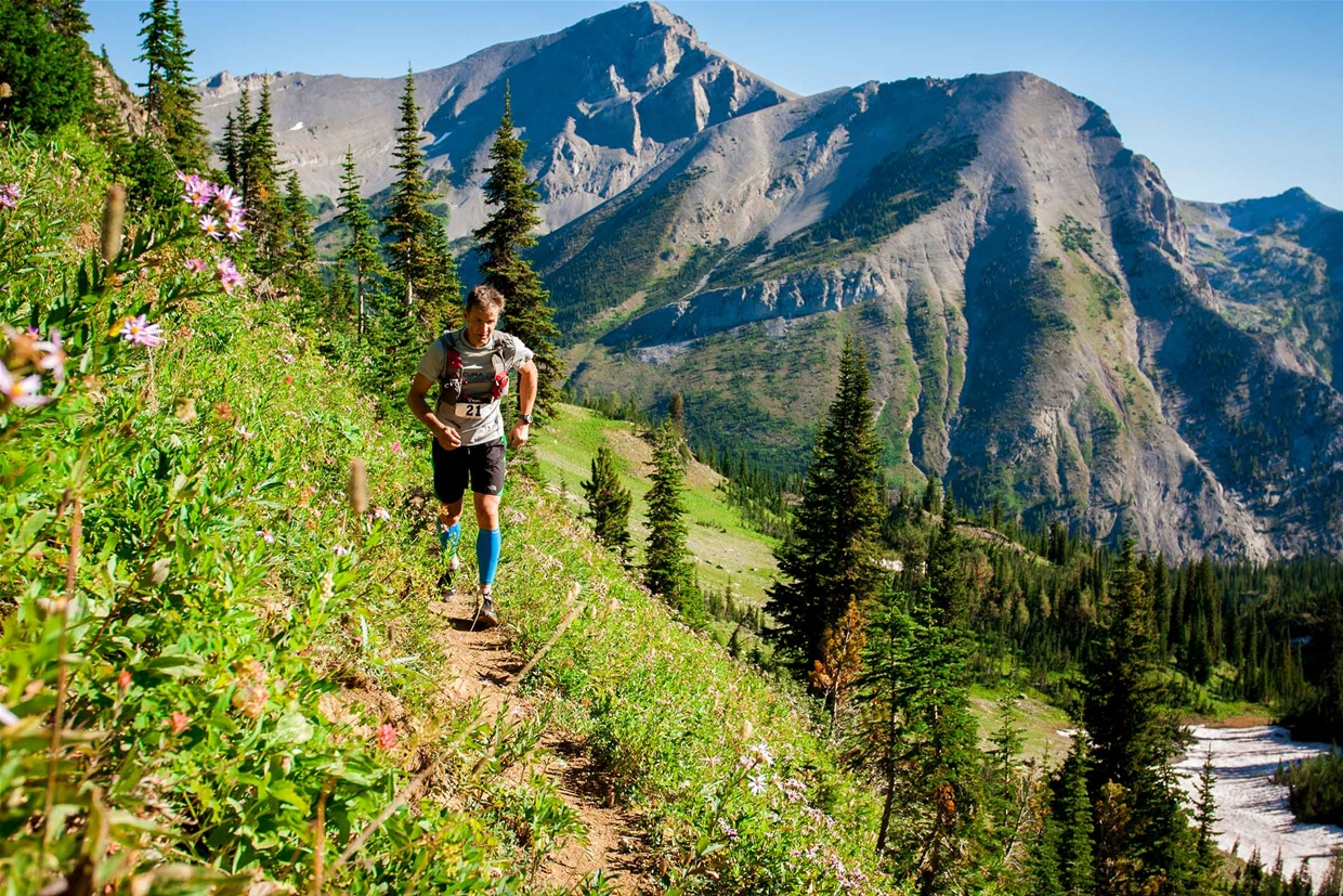 Trail running race in Fernie