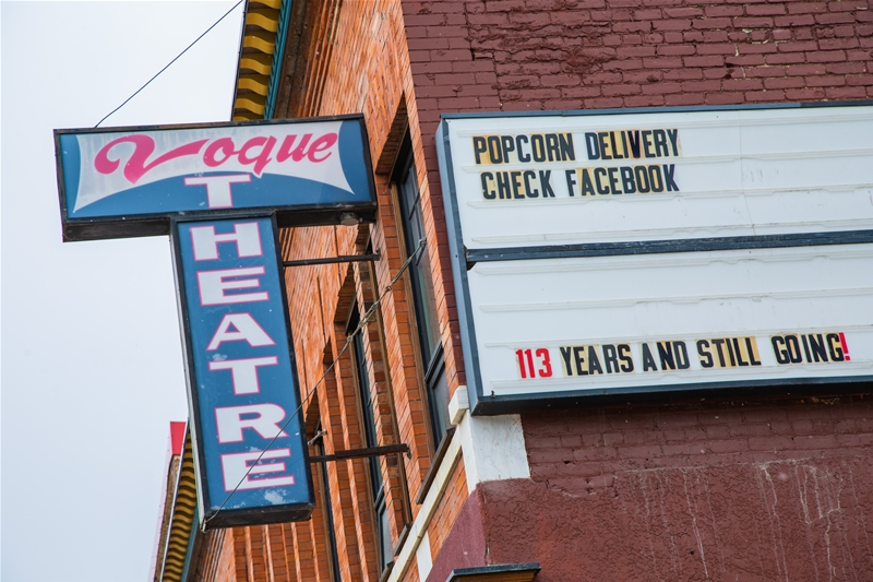 Friday night popcorn delivery service offered to locals by Vogue Theatre