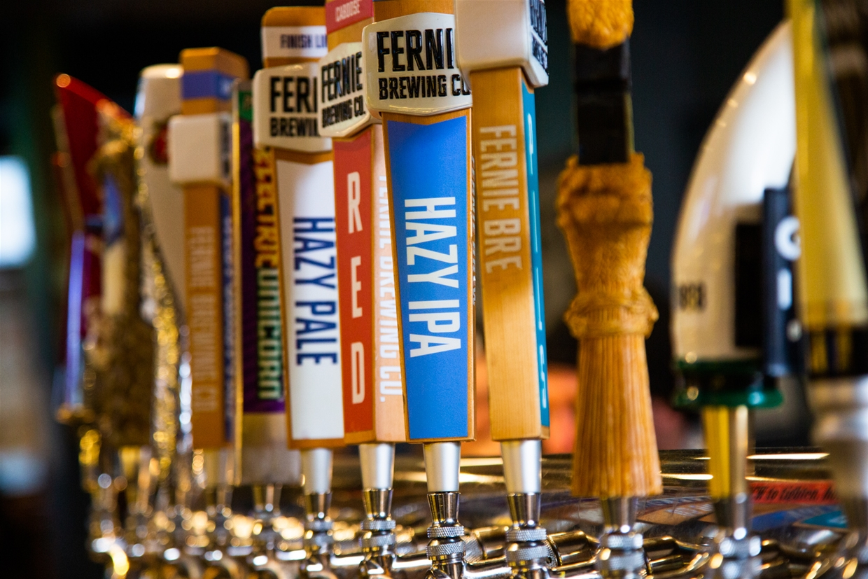 Find the local ale on tap at Fernie Hotel & Pub