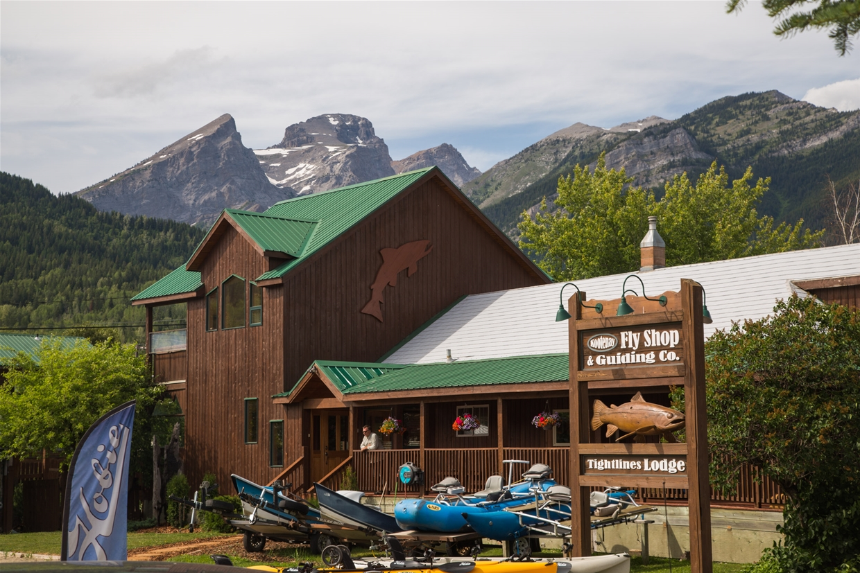 Fernie Tightlines Lodge, located next to Kootenay Fly Shop & Guiding Company