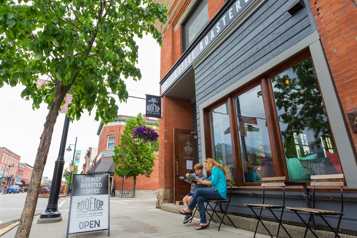 Find Rooftop Coffee Roaster's cafe and tasting room in Downtown Fernie