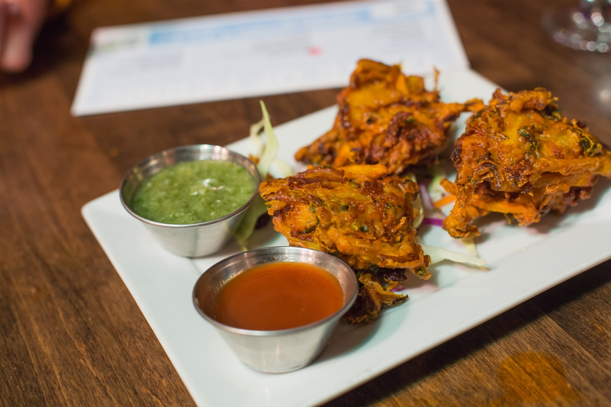 Mixed vegetable Pakoras make an ideal starter