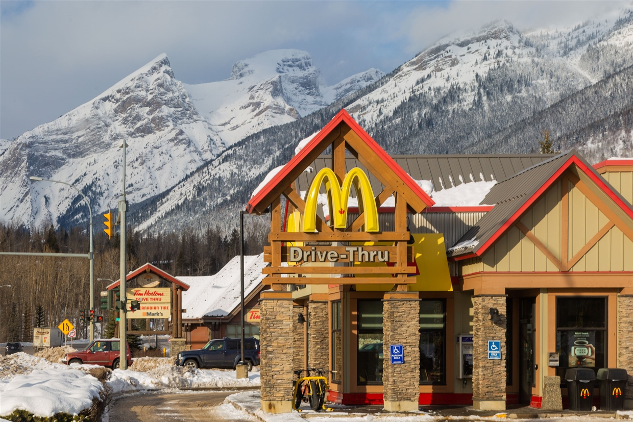 McDonalds is just off Highway 3 in Fernie