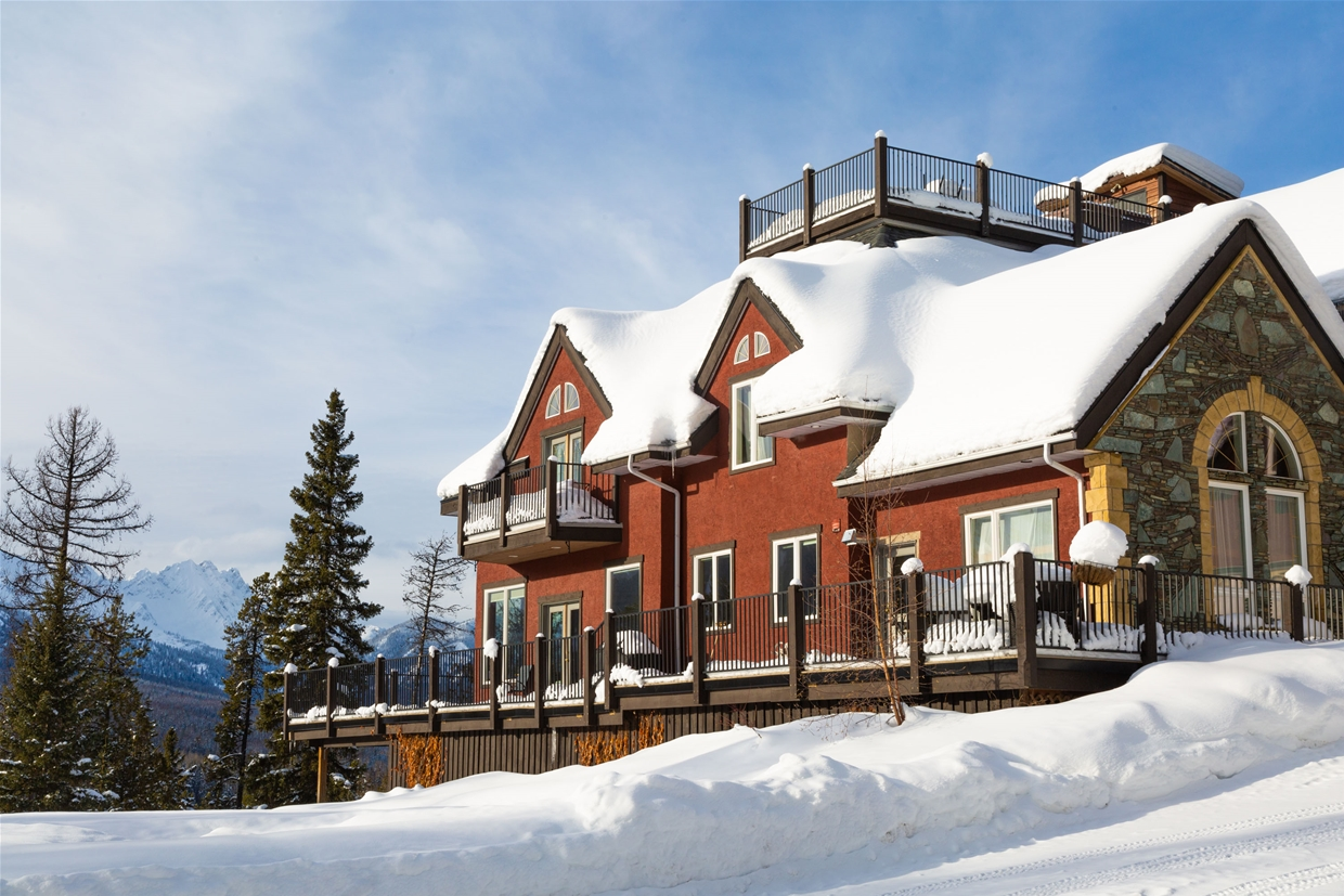 Elk View Lodge in Winter
