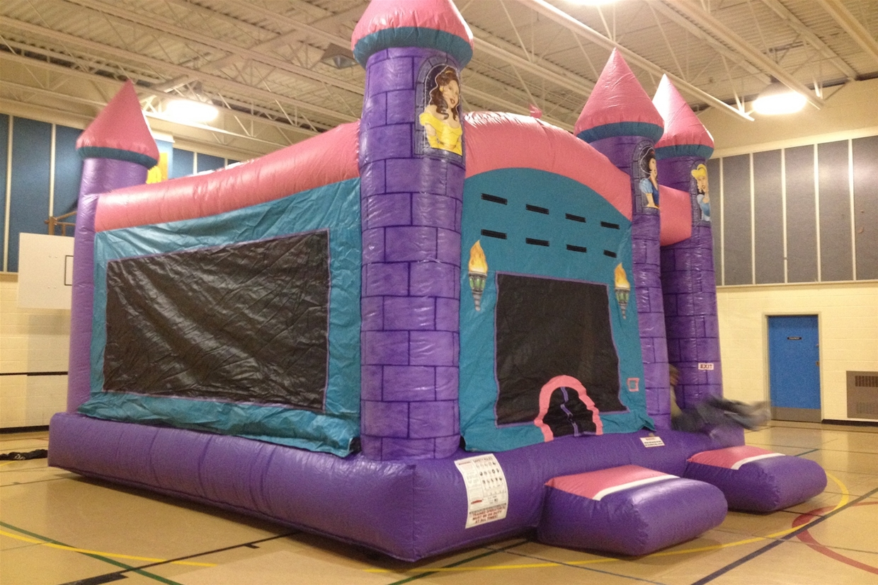 A wide selection of bouncy castles to keep the kids occupied