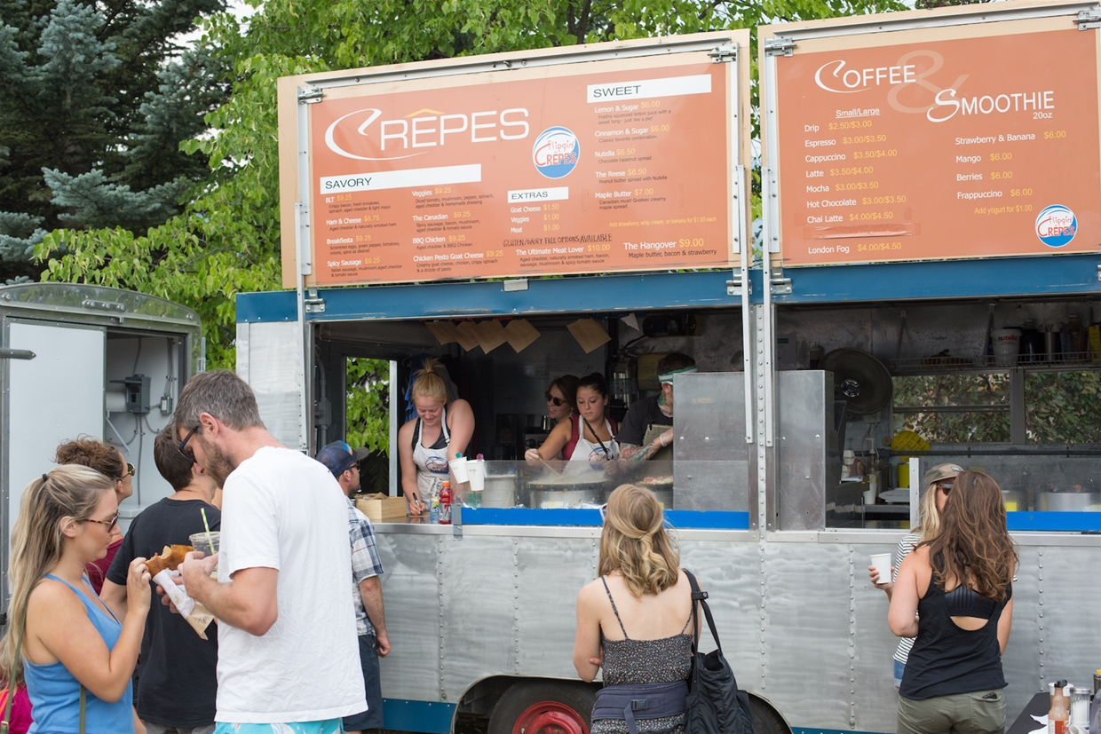 Flippin' Crepes at the Fernie Mountain Market