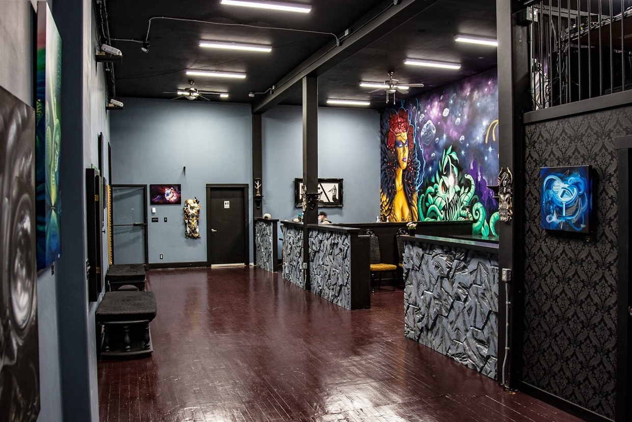 Tattoo studio at Cryptic Hive